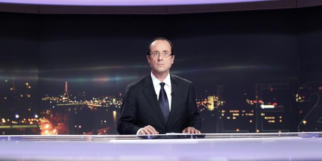 François Hollande sur le plateau de TF1 le 11 octobre