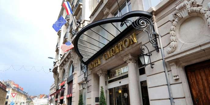 L'entrée de l'hôtel Carlton, le 7 octobre 2011 à Lille.