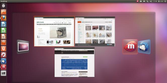 L'interface d'Ubuntu.