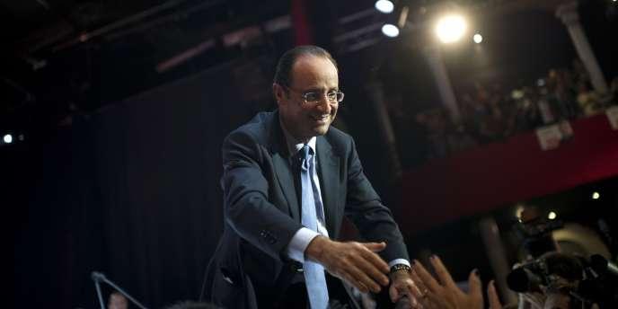 François Hollande, au Bataclan, le 13 octobre 2011.
