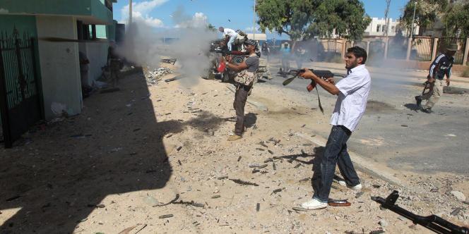 Les combattants rebelles à Syrte, le 14 octobre.