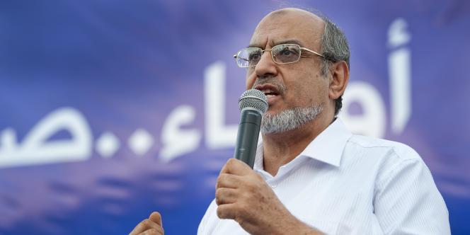 Hamadi Jebali, secrétaire général du parti Ennahda, s'adresse à la foule de ses sympathisants le 1er octobre 2011.