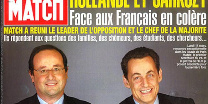 François Hollande et Nicolas Sarkozy, en une de
