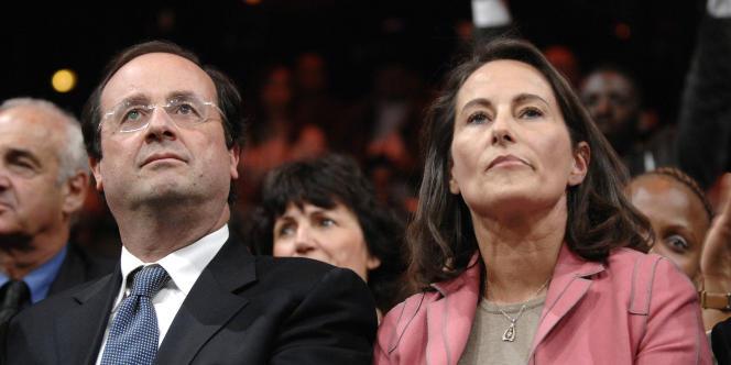 François Hollande et Ségolène Royal après l'échec de Ségolène Royal à l'élection présidentielle, en mai 2007.