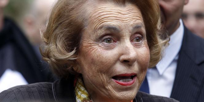 Liliane Bettencourt, le 12 octobre, à Paris.
