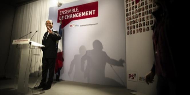 François Hollande, le 16 octobre rue de Solférino, au second tour de la primaire
