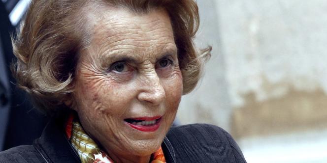 Liliane Bettencourt, le 12 octobre 2011, à l'Institut de France.