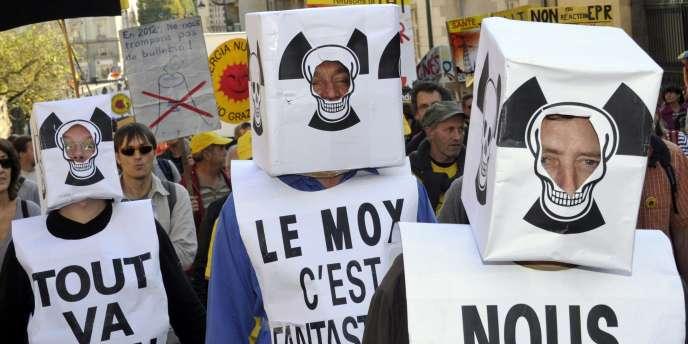 Manifestation contre le nucléaire à Rennes, le 15 octobre 2011.