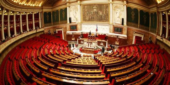 Vue de l'hémicycle de l'Assemblée nationale.