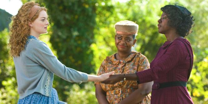 Emma Stone, Octavia Spencer et Viola Davis dans le film américain de Tate Taylor,