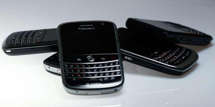 Des terminaux BlackBerry.