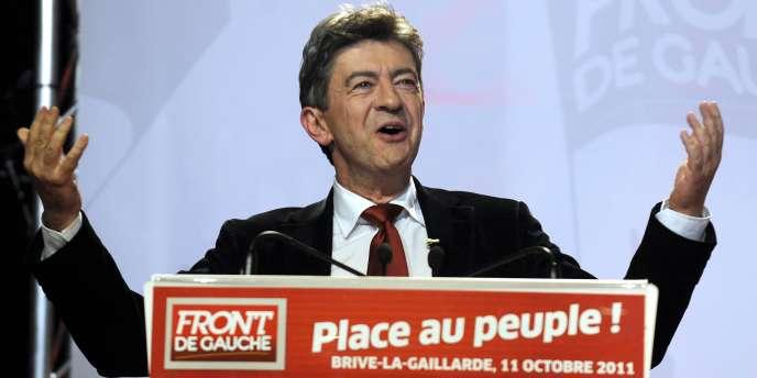 Jean-Luc Mélenchon, le 11 octobre 2011 à Brive-la-Gaillarde.