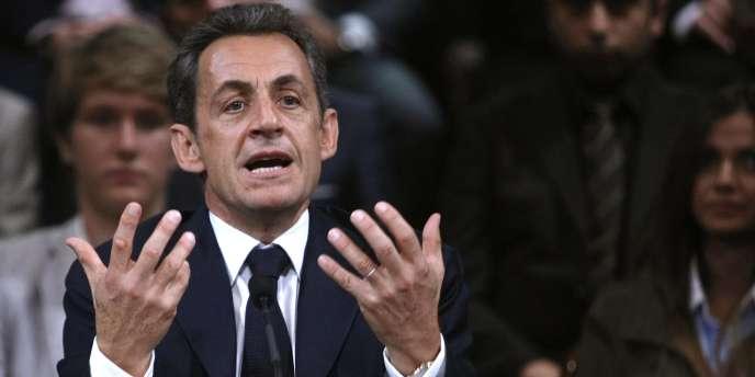 Nicolas Sarkozy, le 18 octobre à Nice.