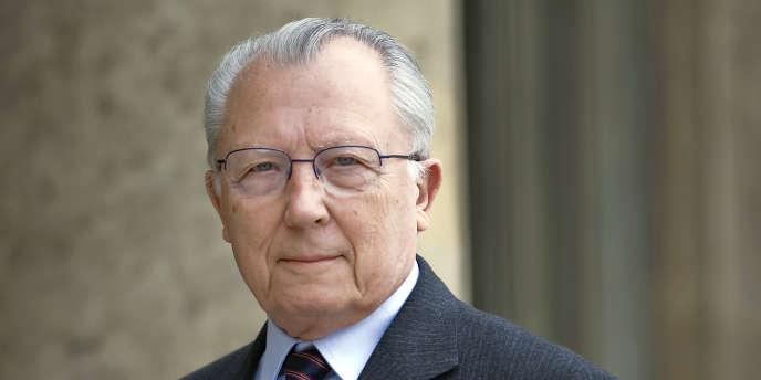 Jacques Delors, à l'Elysée, le 19 mai 2008.
