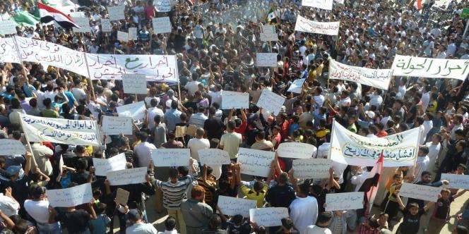 Dans la région de Homs, les rassemblements anti Bachar al-Assad sont devenus quotidiens, malgré la répression de plus en plus sanglante, selon l'opposition.