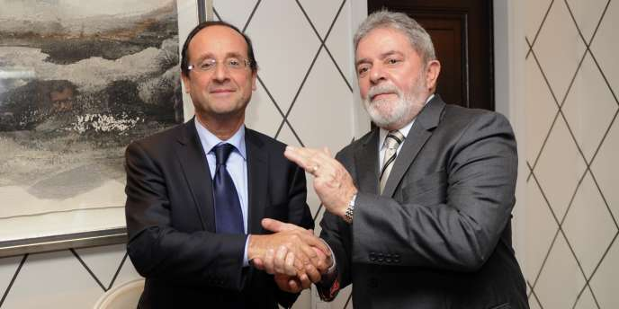 François Hollande et Luiz Ignacio Lula, le 18 octobre à Madrid.