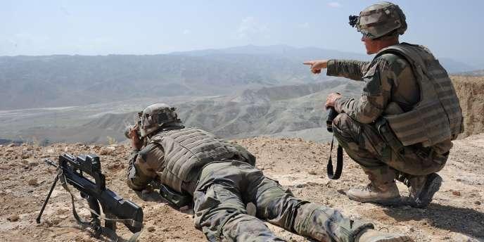 Des militaires français à proximité de Camp Tora, à une cinquantaine de kilomètres de Kaboul, le 11 septembre 2011.