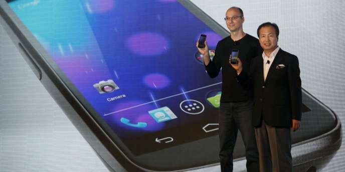 La présentation du Galaxy Nexus, de Samsung, le 19 octobre 2011 à Hongkong. Une collaboration directe de Samsung et Google.