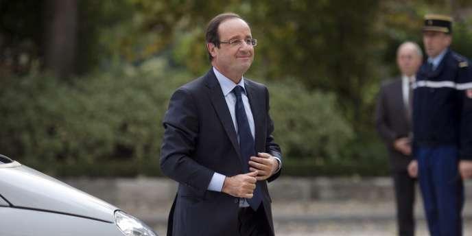 François Hollande, le 18 octobre 2011, au Palais du Luxembourg, à Paris.