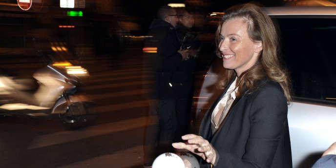 Valérie Trierweiler, compagne de François Hollande, le soir du second tour de la primaire socialiste
