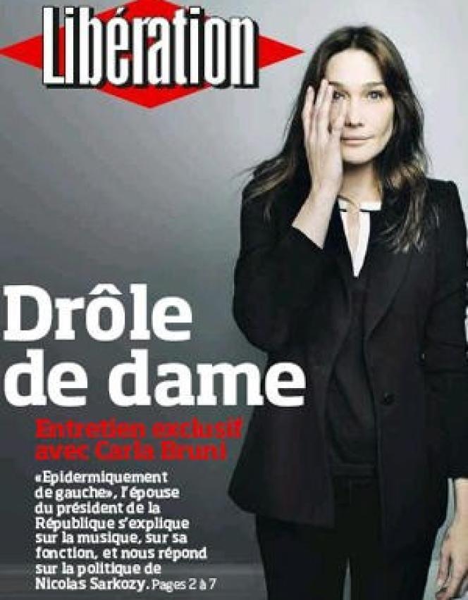 La couverture de Libération, du 21 juin 2008.