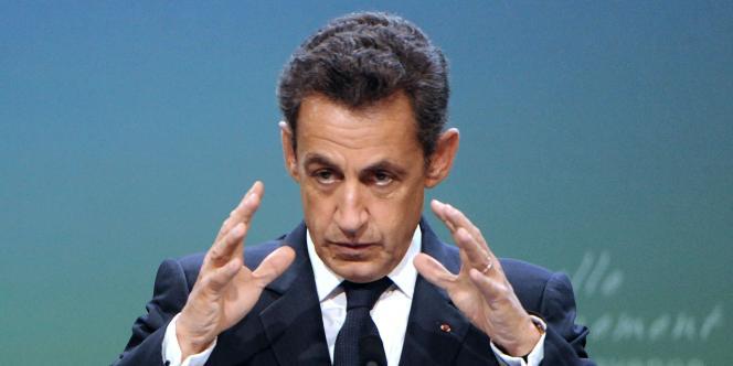 Nicolas Sarkozy, le 20 octobre, à Changé, en Mayenne.