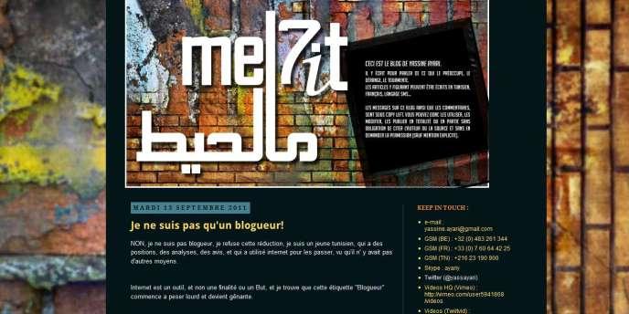 Capture d'écran de la page d'accueil du blog de Yassine Ayari.