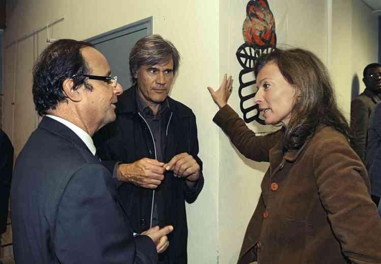 Avec François  Hollande lors d'une rencontre avec des militants socialistes dans le Maine-et-Loire, en octobre 2010. Photo:Laurent Combet-Photopqr-Maxppp