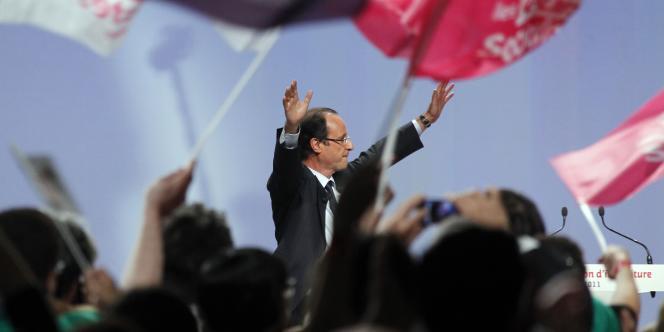 L'atmosphère de la convention d'investiture de François Hollande comme candidat socialiste à l'élection présidentielle était festive, le 22 octobre à Paris.