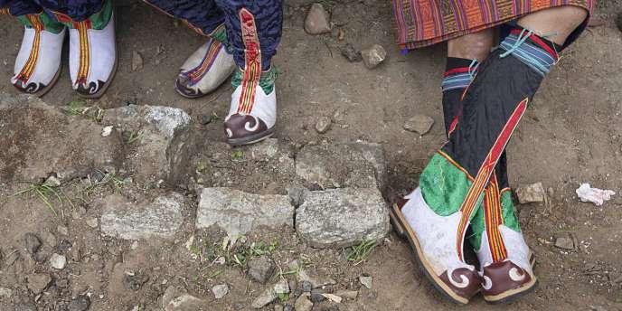La couleur des bottes traditionnelles révèlent le rang de celui qui les porte.