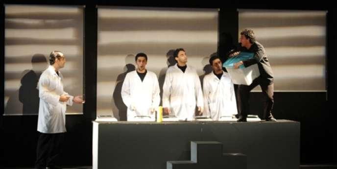 L'Isoloir, une pièce de Taoufik Jebali, au théâtre El Teatro de Tunis en octobre 2011