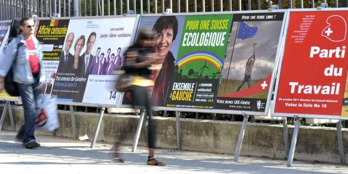 Comme lors du scrutin de 2007, la principale inconnue est le score de l'UDC, qui est devenu la première formation du pays lors de la consultation de 2003.