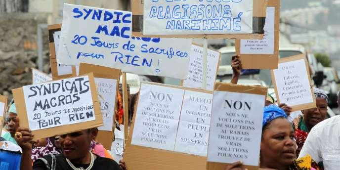 Manifestation de solidarité avec Mayotte, le 19 octobre à La Réunion.