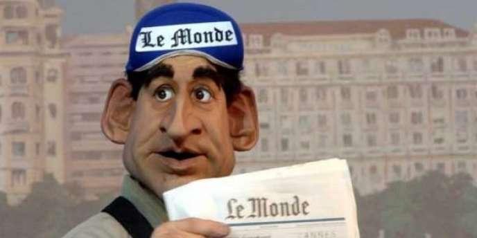 La marionnette du président Sarkozy, par les Guignols.