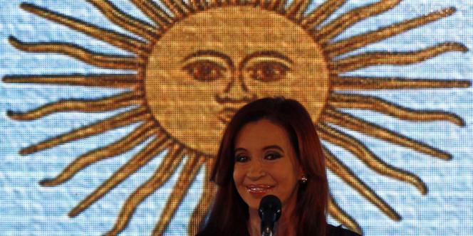 Crisitna Kirchner, dimanche soir, à Buenos Aires (Argentine).