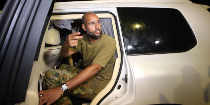 Saïf Al-Islam Kadhafi , le 23 août à Tripoli.