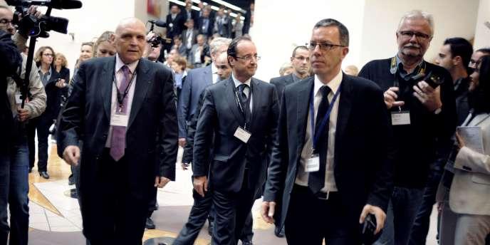 François Hollande, à Besançon, le 20 octobre.