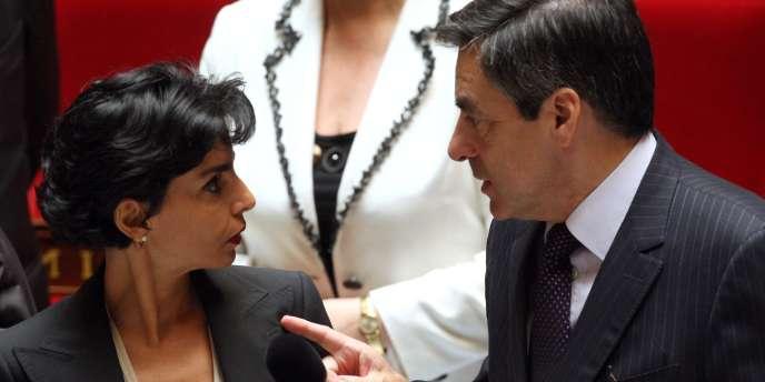 Rachida Dati et François Fillon, en juin 2008.