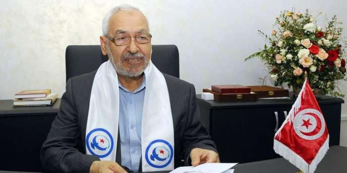 Le fondateur du parti islamiste Ennahda, Rachid Ghannouchi, à Tunis, le 25 octobre 2011.