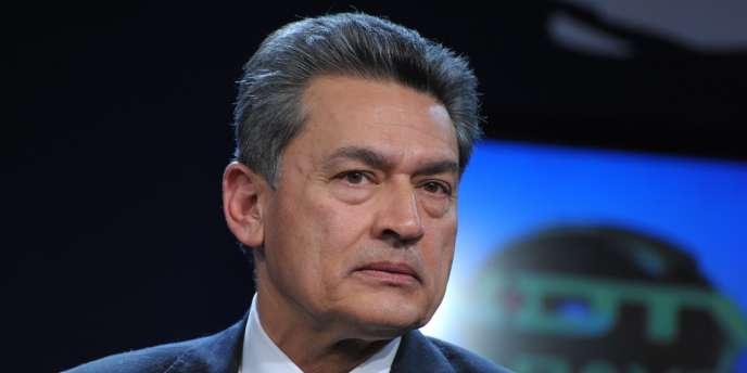 L'ex-directeur de Goldman Sachs, Rajat Gupta, à Davos, en janvier 2010.