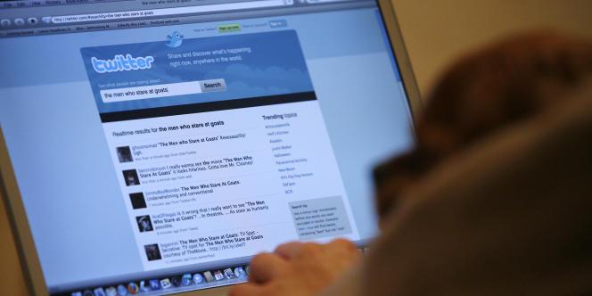 Un internaute consulte le site de Twitter.