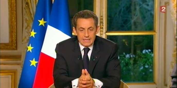 Nicolas Sarkozy, le 27 octobre, sur France 2.