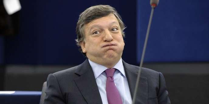 Le président de la Commission européenne, José Manuel Barroso, devant le Parlement européen à Strasbourg, le 27 octobre 2012.