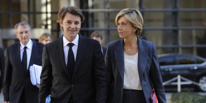 Les ministres de l'économie et du budget, François Baroin et Valérie Pécresse, ont détaillé, devant la commission des finances, le programme de stabilité de la France. Ici, à Paris, le 28 septembre 2011.