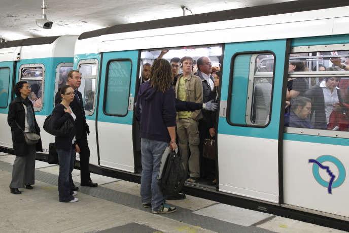 Rame de métro parisien, septembre 2010.