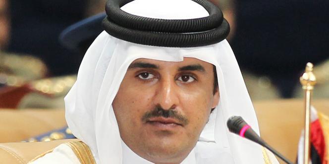 Le jeune émir qatari, Tamim Ben Hamad Al-Thani, à Doha.