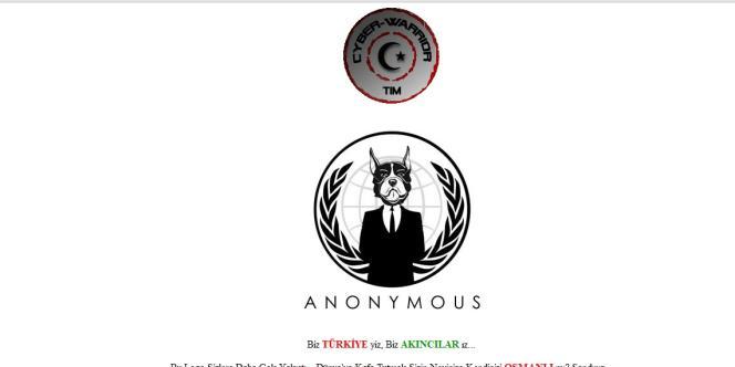 Capture d'écran de la page d'accueil du réseau social AnonPlus créé par le groupe de cyberactivistes Anonymous. En juillet 2011, le site a été piraté par Akincilar.