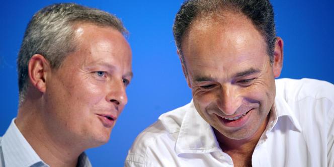 Le ministre de l'agriculture, Bruno Le Maire, avec le secrétaire général de l'UMP, Jean-François Copé.
