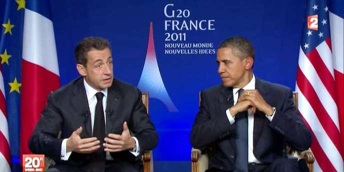 Nicolas Sarkozy et Barack Obama, vendredi 4 novembre.