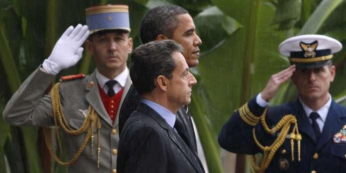 Barack Obama et Nicolas Sarkozy lors du sommet du G20 à Cannes, vendredi 4 novembre 2011.